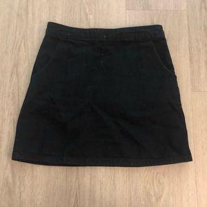 Topshop Denim Moto Skirt